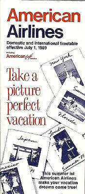 Airline Timetable - American - 01/07/89