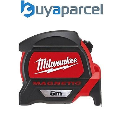 Milwaukee 48225305 5 Meter Magentic Tape Measure 5m with New Finger Stop Feature