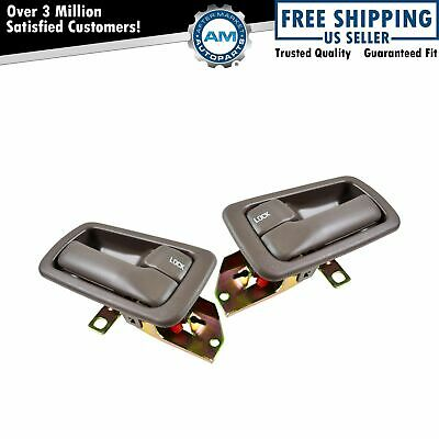Door Handles & Bezels Inside Interior Brown Kit Set of 4 for 92-96 Toyota Camry