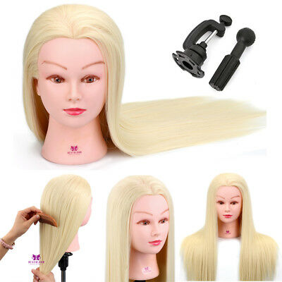 "Neverland Beauty MANIKIN HEAD -Hairdressing Training 30% Human Hair 22"" Blonde"