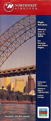 Airline Timetable - Northwest - 01/06/00 - Memphis Skyline cover