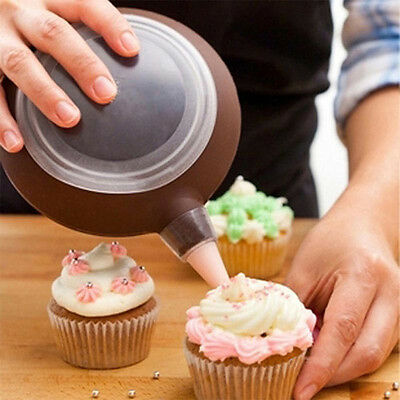 Macaron Baking Pen Pastry Cream Cake Muffin 3 Nozzle Decoration Silicone Set Kit