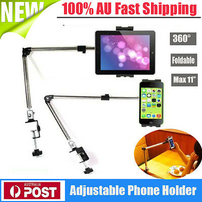 360 Rotating Arm Tablet Bed Holder Stand Lazy Table Mount Bracket For iPad Phone