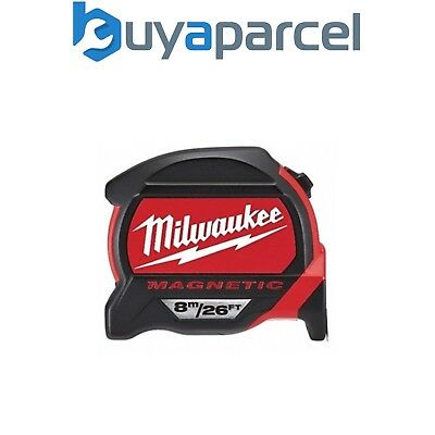 Milwaukee 48227225 Metric and Imperial 8m 26ft Magnetic Tape Measure