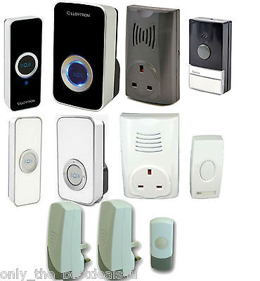 Wireless Cordless Door Bell Chime Mains Plug In Portable Single Twin Triple