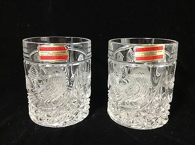 Pair of Echt Bleikristall Lo Ball Glasses Leaded Crystal W Germany