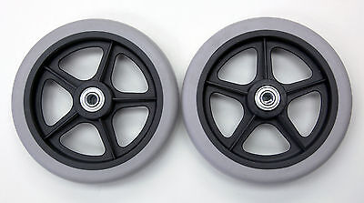 """Rollator Walker Replacement Parts 6"""" Caster Wheel With Bearing C46  2 pcs NEW"""