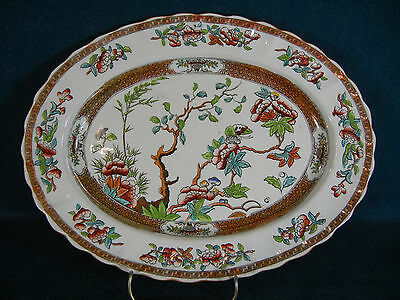 """Copeland Spode Indian India Tree Old Mark Pattern 2/916 Oval 11"""" Serving Platter"""