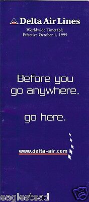Airline Timetable - Delta - 01/10/99