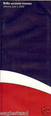Airline Timetable - Delta - 01/06/00