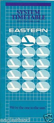 Airline Timetable - Eastern - 05/04/87