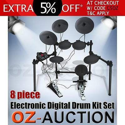 Electronic Digital Drum Kit Set 8 Piece Equipped With 280 Voices Percussion