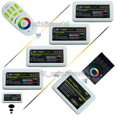 WiFi 2.4G RF Touch Remote wireless Phone Mi.Light RGBW RGB led Controller Dimmer