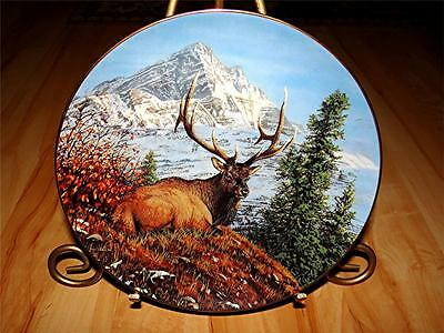 """""""Mountain Repose"""" HIGH COUNTRY PRIDE Elk by Bruce Miller Danbury Mint Plate"""
