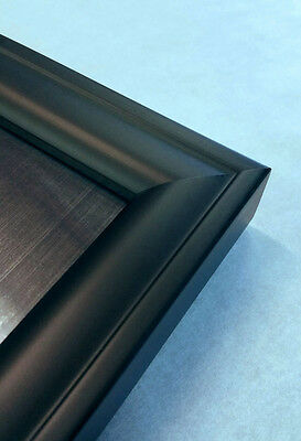 27x40 Movie Poster Frame Black Wood Solid Square Molding 27 Inch 40