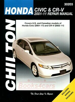 shop manual civic crv service repair honda book cr v haynes chilton rh picclick com Honda CR-V ManualDownload 2009 Honda CR-V Service Manual