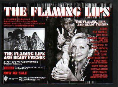 2012 The Flaming Lips and Heady Friends JAPAN album promo ad / advert / clipping