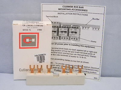 NEW Eaton Cutler-Hammer C320MSB1 Busbar 2-Way Connector for Linking 2 Starters