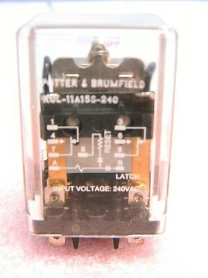 NEW Potter & Brumfield KUL-11A15S-240 DPDT Latching Relay 240VAC DPDT 10A 120V