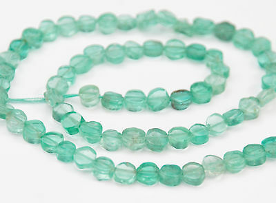 Half Strand Light Blue / Green Apatite Small Coin Beads, 5 Mm, Gemstone