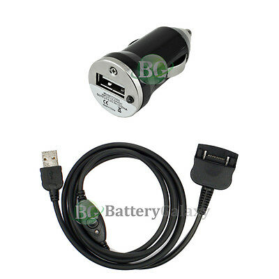 Travel Battery Car Charger+USB Sync Cable for Palm Tungsten T W C T2 T3 Zire 71