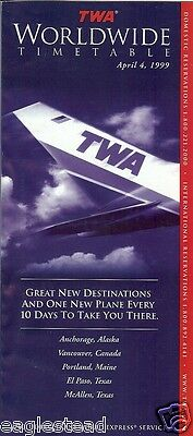 Airline Timetable - TWA - 04/04/99