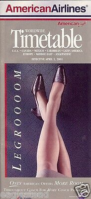 Airline Timetable - American - 01/04/01