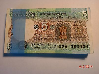 Indian Rupee Currency Paper Money Bank Note 1 2 5 10 20 50
