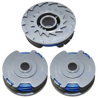 3 X Spool & Line Fits Most Flymo See Listing For Details Strimmer Trimmer Fly021