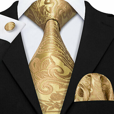 New Classic Novelty Silver JACQUARD WOVEN 100% Silk Mens Handmade Tie Set C-484