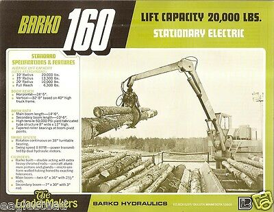 BARKO 120 LOG loader - $7,000 00 | PicClick
