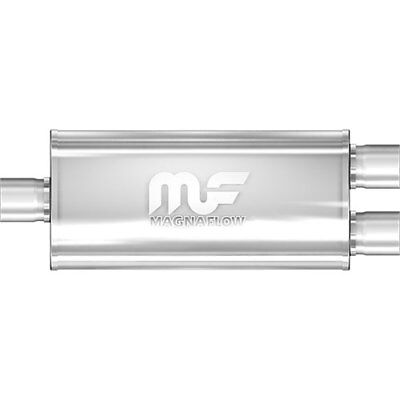 Magnaflow 12158 5'' x 8'' Oval Muffler; Center In/Dual Out:  2.5''/2.5'