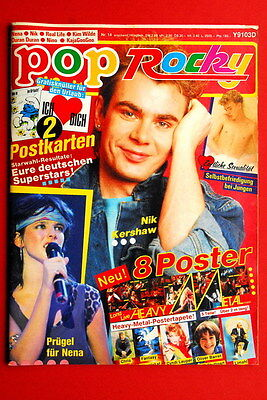 Nik Kershaw Cover Duran Duran Nena 1984 Boy George Rare German Magazine