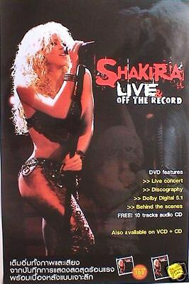 """SHAKIRA """"LIVE OFF THE RECORD"""" PROMO POSTER FROM THAILAND - Latin Pop Music"""