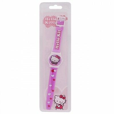 Hello Kitty Pink Leatherette Strap Watch, Womens/Girls, NW0229
