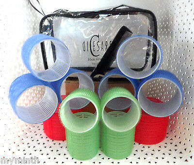 diCesare HAIR STYLING SYSTEMS Large Hair Roller Kit  12 Rollers 6 Clips 1 Comb@