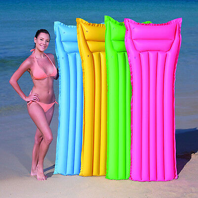 Inflatable Matte Sun Swimming Pool Lounger Holiday Lilo Float Beach Air Bed Mat