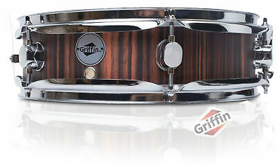 Griffin Piccolo Snare Drum - 13 x 3.5 Black Hickory Poplar Wood Shell Percussion