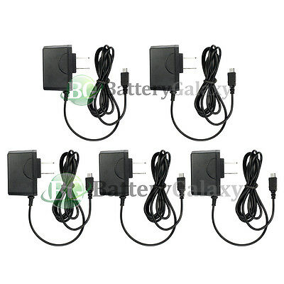 5 NEW Rapid Micro USB Battery Home Wall Travel AC Charger For Android Cell Phone
