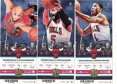 2013-14 CHICAGO BULLS SEASON TICKET STUB PICK YOUR GAME DROPBOX NOAH ROSE BOOZER