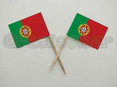 72 Portuguese Flag Picks - Buffet Sandwich Cupcake Toppers - Portugal Flags