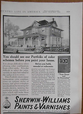 1911 vintage AD Sherwin-Williams Paints & Varnishes