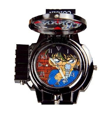 Anime Detective Conan Shinichi Kudou Laser Watch+Glasses Kid Children Toy