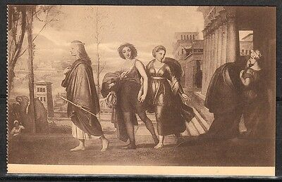 Vintage Very fine mint postcard Happy times Musee Wiertz Brussels Belgium Thill