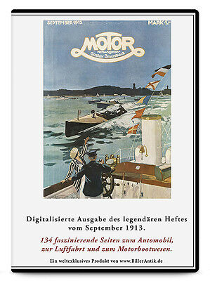 CD Siemens-Schuckert-Werke Herrenchiemsee Wolfgangsee MOTOR September 1913