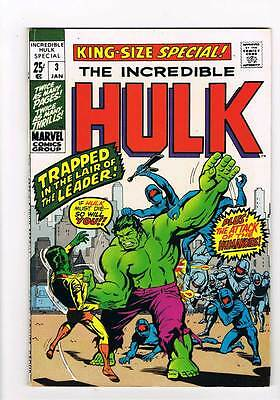 Hulk Annual # 3  Trapped in the Lair of the Leader  grade 7.5 scarce book !!