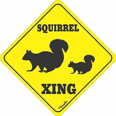 Squirrel Xing Sign