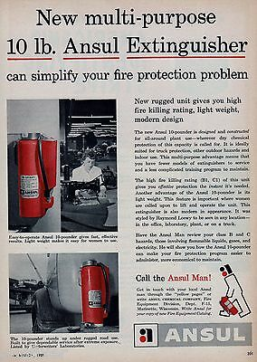 ANSUL 10 LB EXTINGUISHER NEW FOR 1955    AD