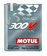 Motul 104244 300V Competition 15W50 100% Synthetic-Ester Racing Oil 2L - 1pc