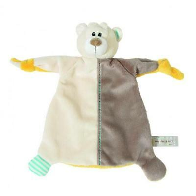 "MY FIRST NICI Comforter BEAR Blankie soft plush baby safe unisex toy 10""25cm NEW"